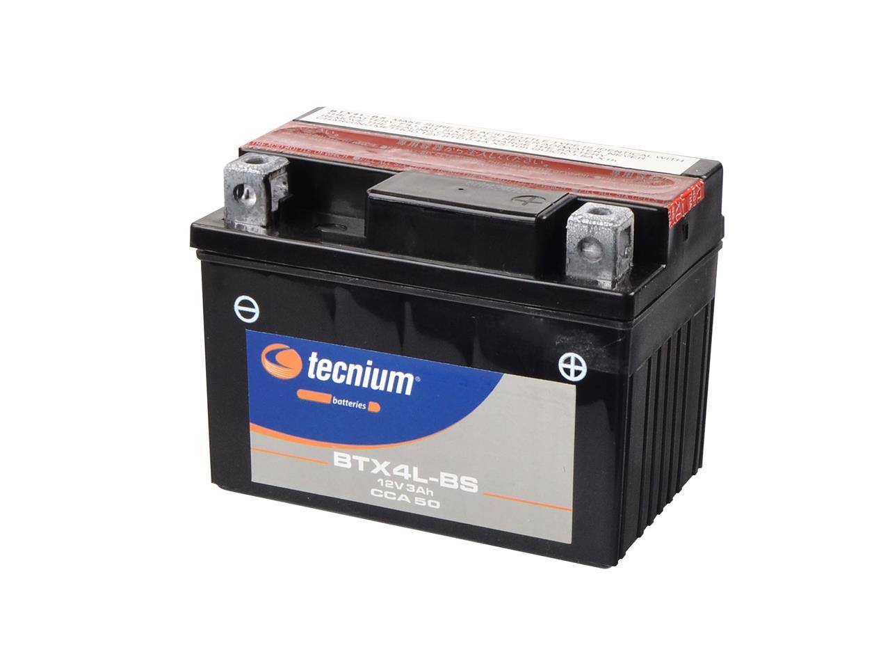 Batterie TECNIUM BTX4L-BS sans entretien livrée avec pack acide