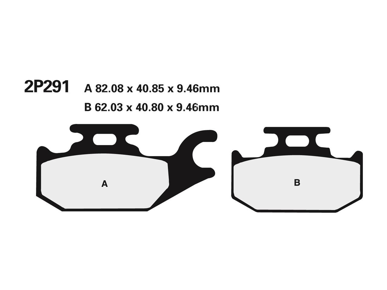 Plaquettes de frein NISSIN 2P-291NS semi-métallique