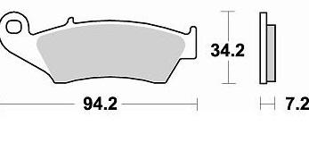Plaquettes de frein BRAKING 772SM1 semi-métallique