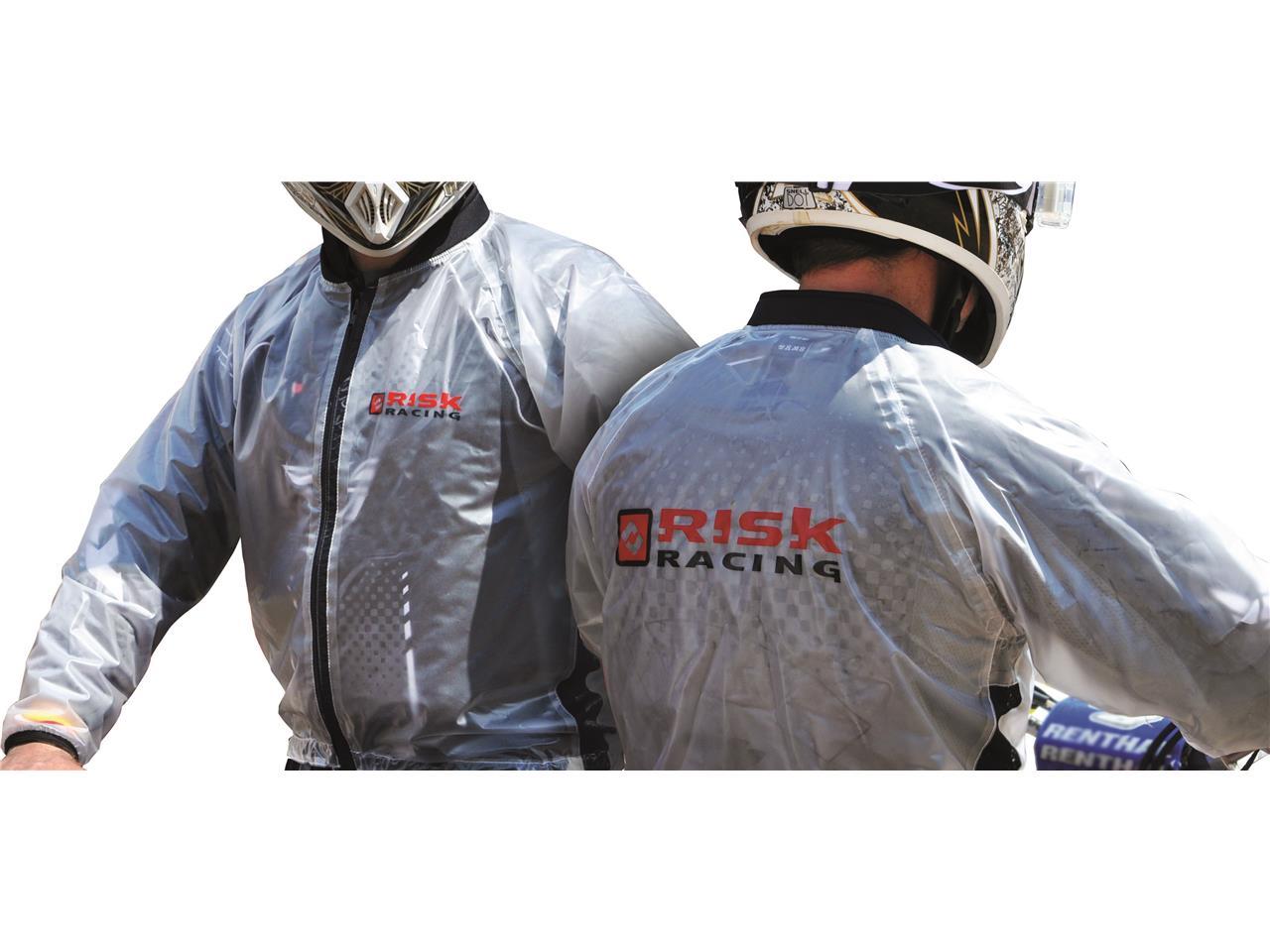 Veste de pluie Risk Racing translucide taille XXL