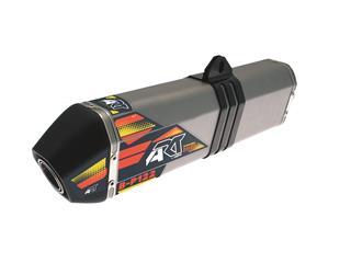 ART B-P122 Stainless Steel Full Exhaust System Aluminium Slip-on/Black End-Cap KTM EXC-F450