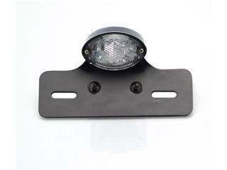 V PARTS Black Ogive Rear Light w/ License Plate Holder Universal