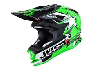 JUST1 J32 Moto X Helmet green size YS kid