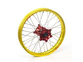 HAAN WHEELS 19X1.85 Complete Rear Wheel Yellow Rim/Red Hub Suzuki RM-Z250