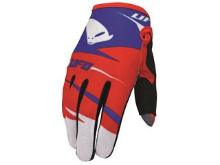 UFO Revolt Gloves junior Blue/Red 7-10 y/o