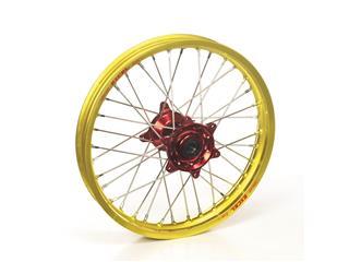 HAAN WHEELS Complete Front Wheel 21X1.60 Gold Rim/Red Hub Yamaha