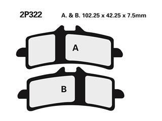 Nissin sintered pad 2P322ST