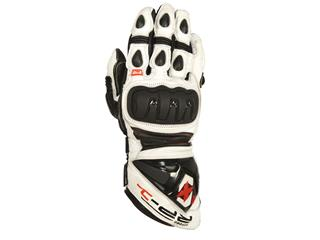 RP1 -  LEATHER  RACE GLOVE WHITE/BLACK