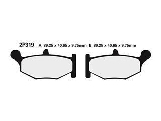 Nissin semi-metallic pad 2P319NS