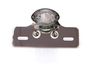 V PARTS Chrome Ogive Rear Light w/ License Plate Holder Universal