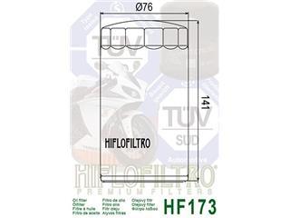 Hiflofiltro Oil Filter HF173C Chrome Harley Davidson