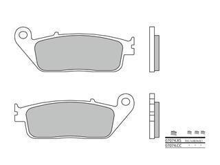 BREMBO brake pads 07074XS sinter avant