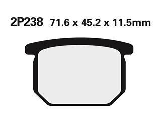 Nissin semi-metallic pad 2P238NS