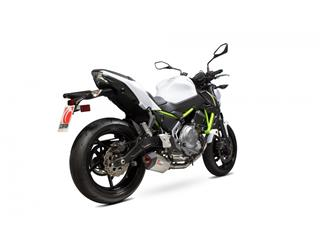 SCORPION Serket Parallel Stainless Steel Full Exhaust System Titanium Slip-On/Black ABS End Cap Kawasaki Z650