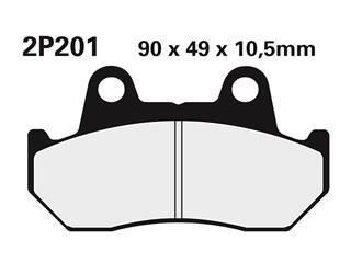 Nissin semi-metallic pad 2P201SS