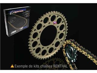 Kit chaine pour KTM EXC250 (2Tps) '04-08, Transmission 13/52, Chaine RENTHAL 520R3-2
