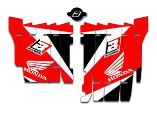 BLACKBIRD Radiator Louvers Graphic Kit Red Honda CRF450RX