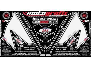 MOTOGRAFIX Front Fairing Numberboard White Triumph Daytona