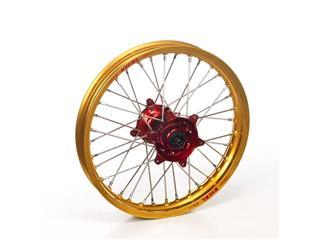 HAAN WHEELS 21X1.60X36 Complete Front Wheel Gold Rim/Red Hub Honda