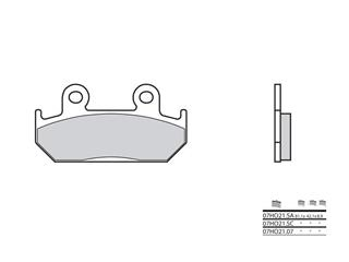 Brembo 07HO 21 SA sintered metal brake pads