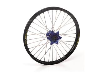 HAAN WHEELS Complete Rear Wheel 19x2,15 Black Rim/Blue Hub Suzuki