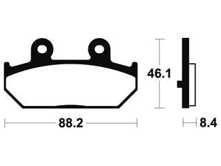 Brake pads Bendix MSS304 Sintered metal.