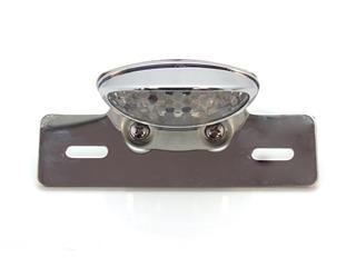 V PARTS Chrome Oval Rear Light w/ License Plate Holder Universal