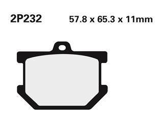 Nissin semi-metallic pad 2P232SS