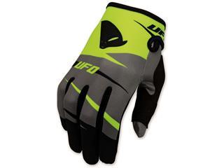 UFO Revolt Gloves Fluoro Yellow/Grey Size L