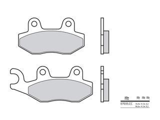 BREMBO brake pads 07035CC carbon ceramic front