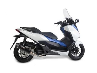 YASUNI Scooter 4 Exhaust System Black Edition Stainless Slip-on/Black ABS End Cap Honda Forza 125