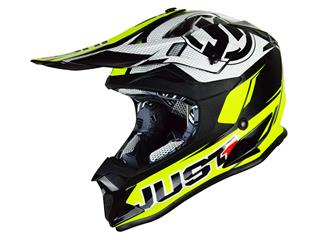JUST1 J32.PRO Rave Helmet Black/Fluro Yellow Size M