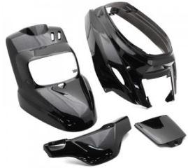 V PARTS 4 Pieces Fairing Kit black MBK Booster 50