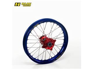HAAN WHEELS Complete Front Wheel 21x1.60 Blue Rim/Red Hub Honda