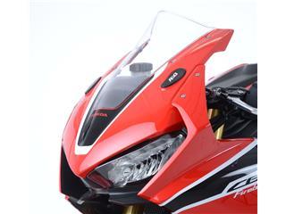 R&G RACING Mirror Blanking Plate Black Honda CBR1000RR - by pair