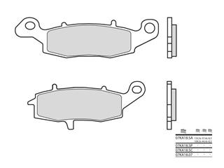 Brembo 07KA 18 SA sintered metal brake pads