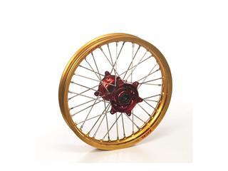 HAAN WHEELS Complete Rear Wheel 19X2.15 Gold Rim/Red Hub Yamaha