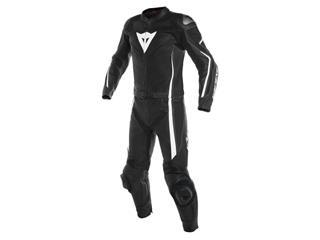 Leather Suit Dainese Assen 2Pcs Blk/Wht Sz 46