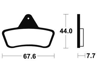 Plaquettes de frein Bendix MOR258 Métal fritté