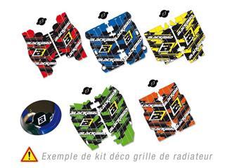 Kit déco de cache radiateur BLACKBIRD Dream Graphic 3 rouge Honda CRF250R - 78101811