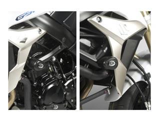 Tampons de protection R&G RACING Aero noir Suzuki GSR 750