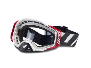 UFO Epsilon Goggle White/Black/Red Clear Lens