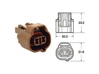 Connectique femelle série 090 SMTO BIHR type origine 2 voies marron - 5 pcs