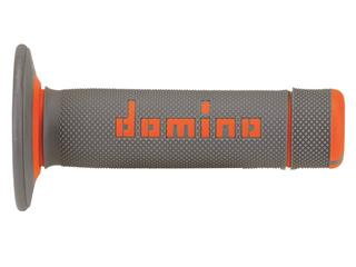 DOMINO A020 Bicolore MX Griffgummis Halbwaffel-Design grau/orange - 872130