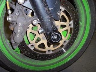 Protection de fourche R&G RACING noir Kawasaki ZX6R