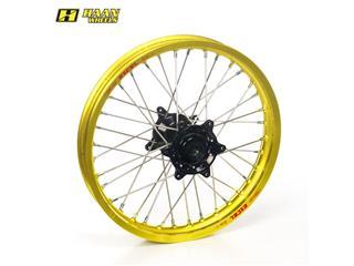 HAAN WHEELS Complete Rear Wheel 16x1,85x32T Yellow Rim/Black Hub/Silver Spokes/Silver Spoke Nuts