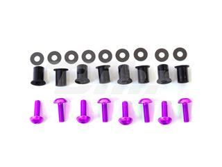 Kit parafusaria viseira alumínio Pro-Bolt violeta SK020P - 54779