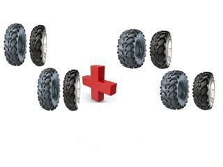 8 Utility Tire Pack KENDA BEAR CLAW K299 (4 x 25X8-12 + 4 x 25X10-12)