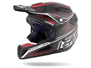 LEATT GPX 6.5 Helmet Carbon Red/Grey/White Size S