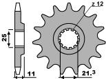 Pignon PBR 16 dents acier standard pas 520 type 727 Husqvarna SM610E - 46472716